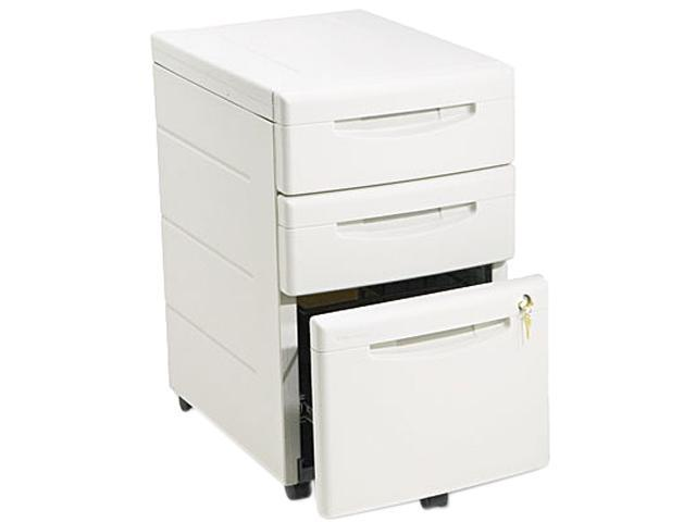 Iceberg 95213 Aspira Mobile Underdesk Pedestal File, Resin, 2 Box/1 File Drawers, Platinum