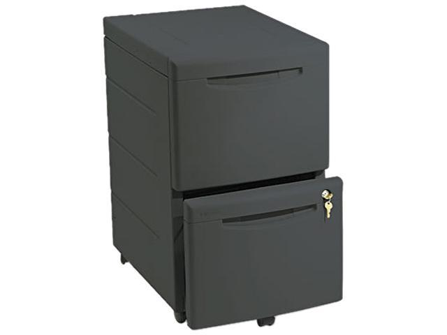 Iceberg 95411 Aspira Mobile Underdesk Pedestal File, Resin, 2 File Drawers, Black