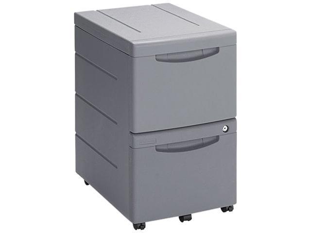 Iceberg 95412 Aspira Mobile Underdesk Pedestal File, Resin, 2 File Drawers, Charcoal