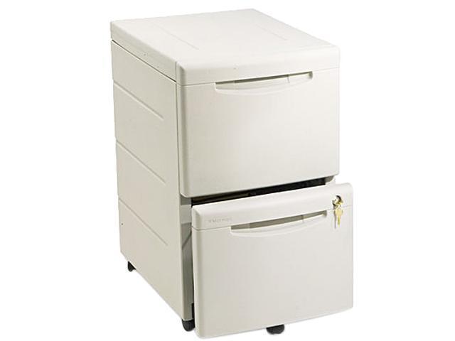 Iceberg 95413 Aspira Mobile Underdesk Pedestal File, Resin, 2 File Drawers, Platinum