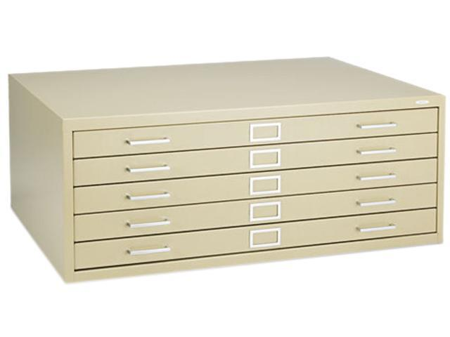 Safco 4994TSR Five-Drawer Steel Flat File, 40-3/8w x 29-3/8d x 16-1/2h, Tropic Sand