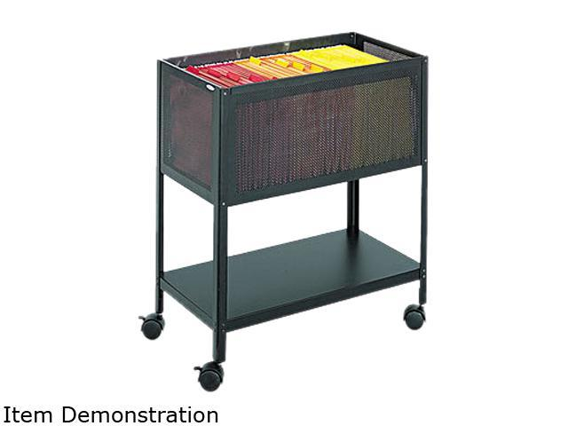Safco 5350BL Steel Mesh Open Top Tub File, 13-1/2w x 24-1/4d x 27-1/2h, Black