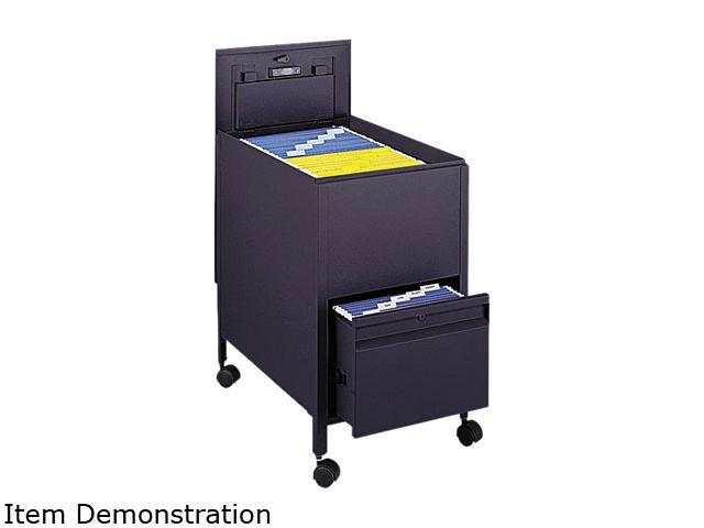 Safco 5364BL Locking Mobile Tub File With Drawer, Letter Size, 17w x 26d x 28h, Black