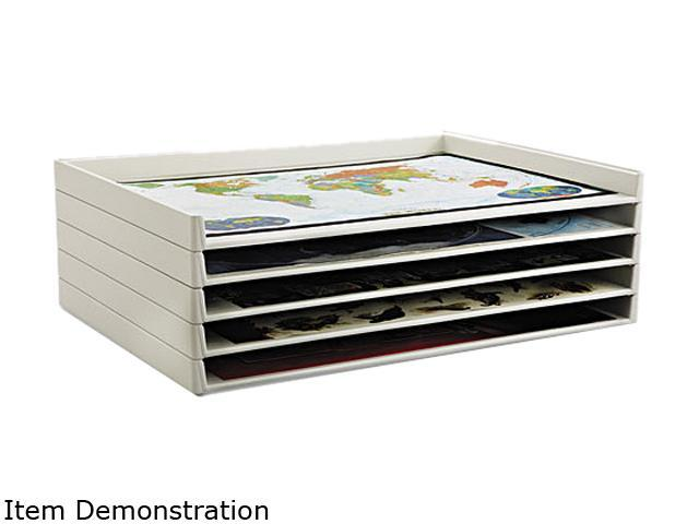 Safco 4899 Giant Stack Flat File Trays, 45-1/4w x 34d x 3h, White