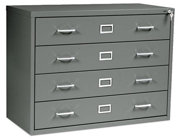 Safco 4930CH Four-Drawer Computer Disk/Data Cabinet, 37w x 17-3/8d x 27-3/4h, Charcoal