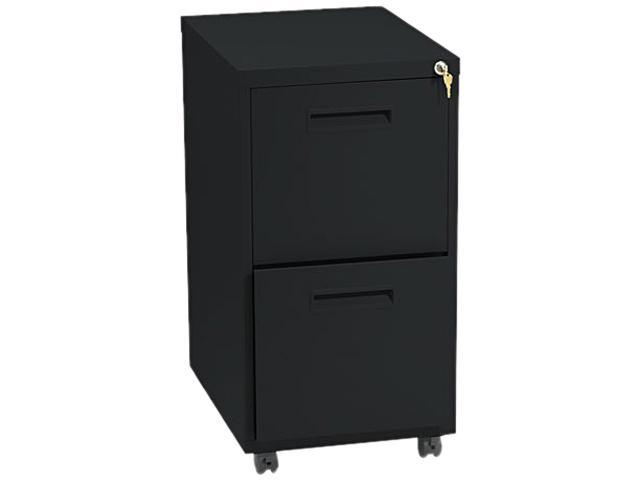 "Basyx 1600 Series File/File Pedestal File W/2 ""m"" Pull Drawers, 22d, Black"