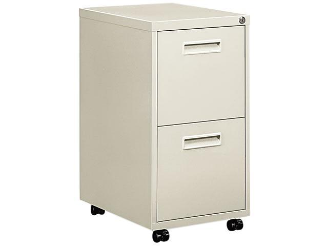 "Basyx 1600 Series File/File Pedestal File W/2 ""m"" Pull Drawers, 22d, Light Gray"