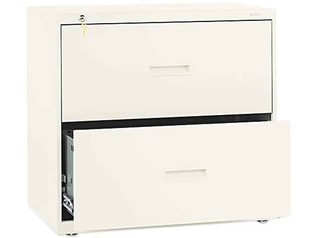 Basyx 400 Series Two-Drawer Lateral File, Putty