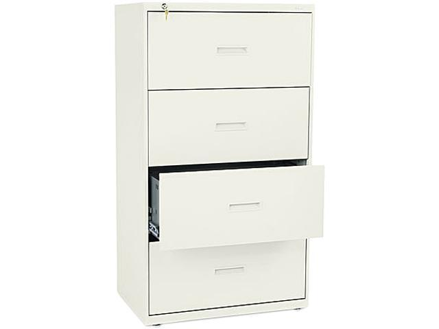 Basyx 400 Series Four-Drawer Lateral File, Putty