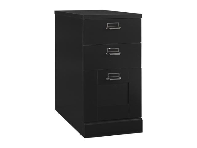 My Space by Bush Furniture MY62903-03 Stockport Collection 3 Drawer Pedestal - 2 box / 1 file - Classic Black