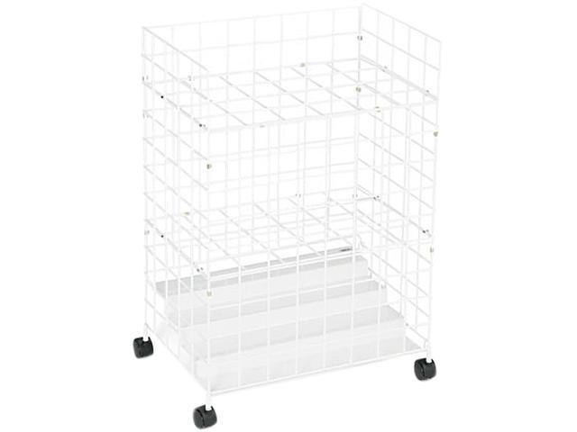 Safco 3088 Wire Roll Files, 24 Compartments, 21w x 14d x 31-3/4h, White