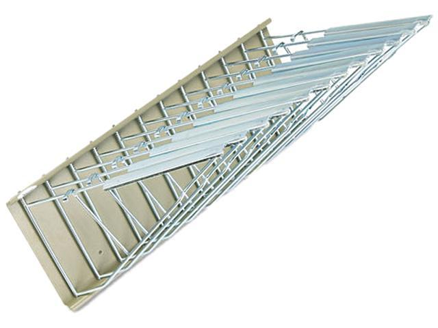 Safco 5016 Sheet File Pivot Wall Rack, 12 Hanging Clamps, 24w x 14-3/4d x 9-5/8h, Sand