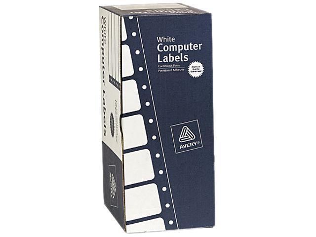 Avery 4022 Dot Matrix Printer Address Labels, 1 Across, 1-15/16 x 4, White, 5000/Box