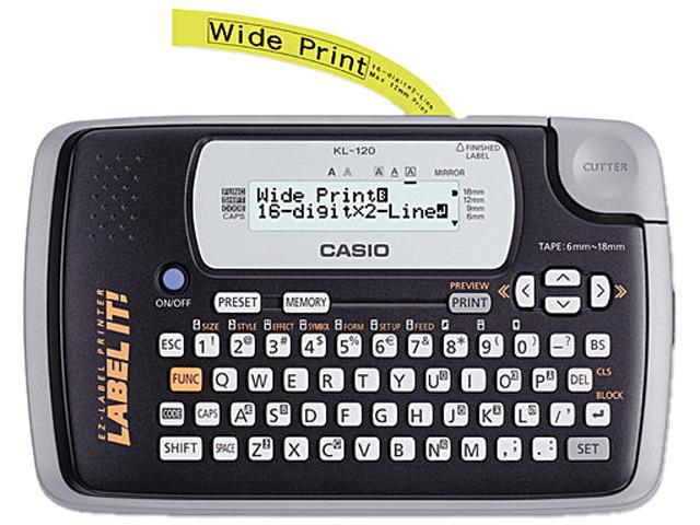 Casio KL-120L KL-120 Label Maker, 1 Lines, 7-1/2w x 4-1/2d x 2-1/5h