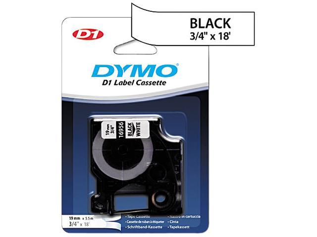 DYMO 16956 D1 Permanent High-Performance Polyester Label Tape, 3/4in x 18ft, Black on White