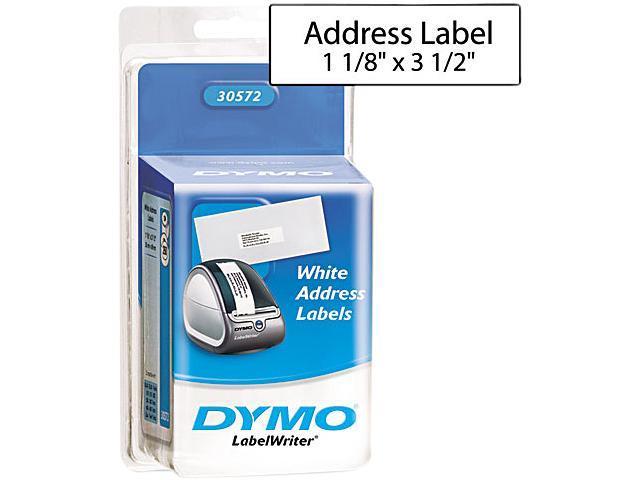 DYMO 30572 Address Labels, 1-1/8 x 3-1/2, White, 520/Pack