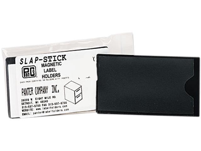 Panter Company MAG-LH-BK Slap-Stick Magnetic Label Holders, Side Load, 4-1/4 x 2-1/2, Black, 10/Pack