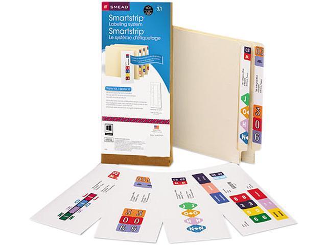 Smead 66000 Smartstrip Labeling System Starter Kit w/CD Software & 50 Label Forms, Inkjet
