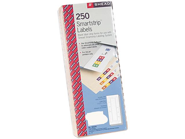Smead 66006 Smartstrip Refill Label Kit, 250 Label Forms/Pack, Inkjet