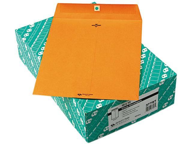 Quality Park 37797 Clasp Envelope, 10 x 13, 32lb, Light Brown, 100/Box