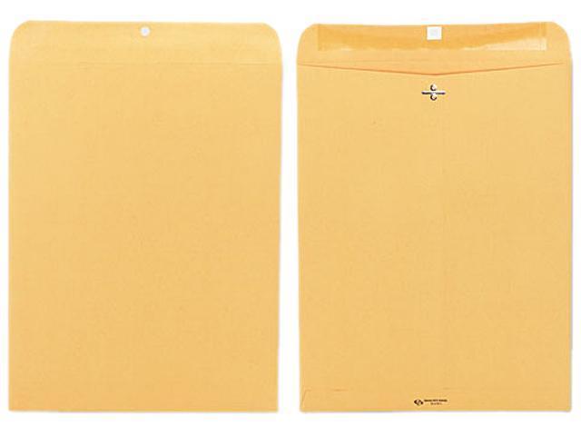 Quality Park 37810 Clasp Envelope, 12 x 15 1/2, 32lb, Light Brown, 100/Box