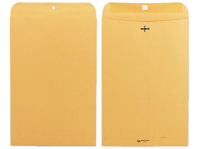 Quality Park 37898 Clasp Envelope, 10 x 15, 28lb, Light Brown, 100/Box