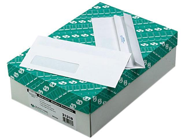 Quality Park 21318 Redi-Seal Window Envelope, Contemporary, #10, White, 500/Box
