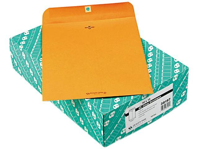 Quality Park 38197 Clasp Envelope, Recycled, 10 x 13, 28lb, Light Brown, 100/Box