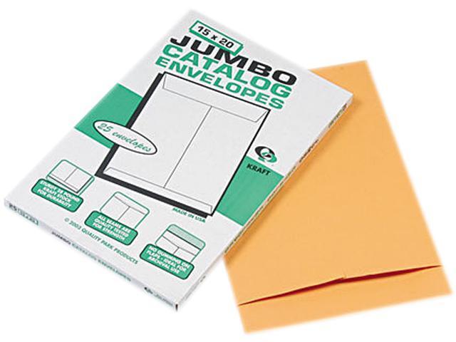 Quality Park 42355 Jumbo Size Kraft Envelope, 15 x 20, Light Brown, 25/Box