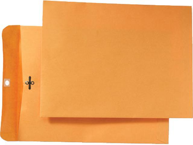Quality Park 43090 Park Ridge Kraft Clasp Envelope, 9 x 12, Light Brown, 100/Box