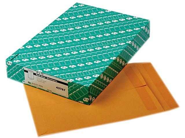 Quality Park 43767 Redi-Seal Catalog Envelope, 10 x 13, Light Brown, 100/Box
