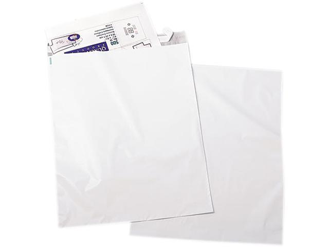 Quality Park 45238 Redi-Strip Recycled Poly Mailer, Side Seam, 19 x 24, White, 50/Pack