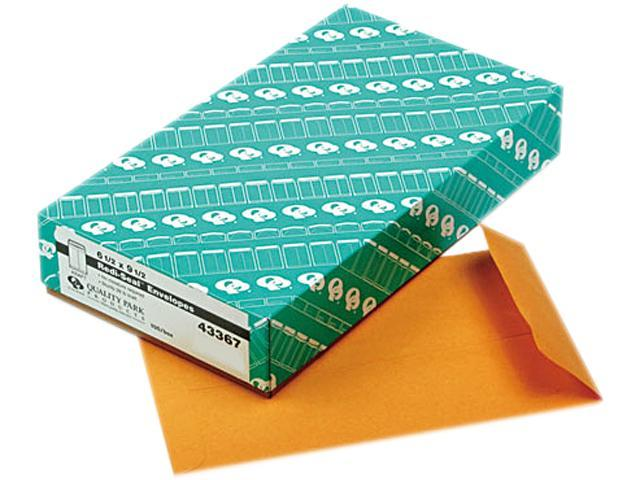 Quality Park 43367 Redi-Seal Catalog Envelope, 6 1/2 x 9 1/2, Light Brown, 100/Box