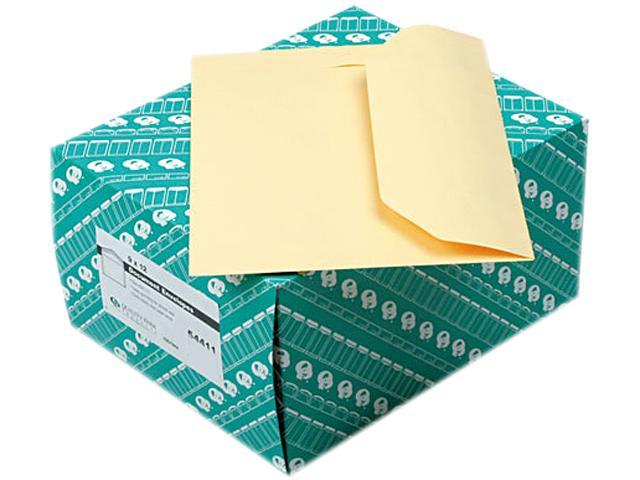 Quality Park 54411 Open Side Booklet Envelope, Traditional, 12 x 9, Cameo Buff, 100/Box
