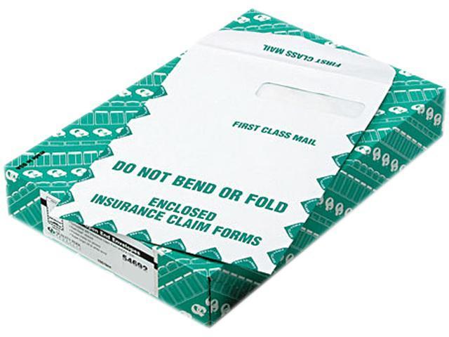 Quality Park 54692 Redi-Seal Insurance Envelope, First Class, Side Seam, 9 x 12 1/2, White, 100/Box