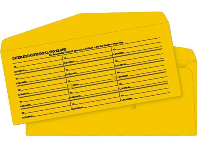 Quality Park 63262 Light Brown Fold Flap Kraft Trade Size Interoffice Envelope, #11, 500/Box