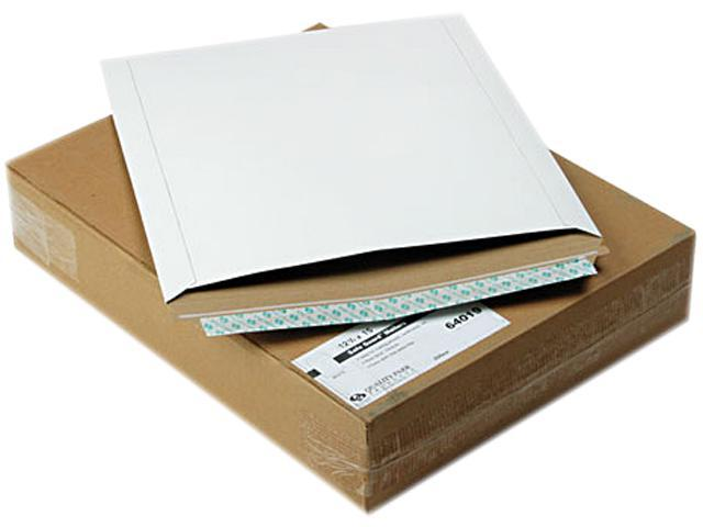 Quality Park 64019 Photo/Document Mailer, Redi-Strip, Side Seam, 12 3/4 x 15, White, 25/Box