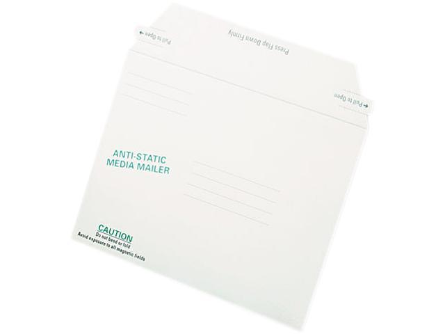 Quality Park 64126 Antistatic Fiberboard Disk Mailer, 6 x 8 5/8, White, Recycled, 25/Box