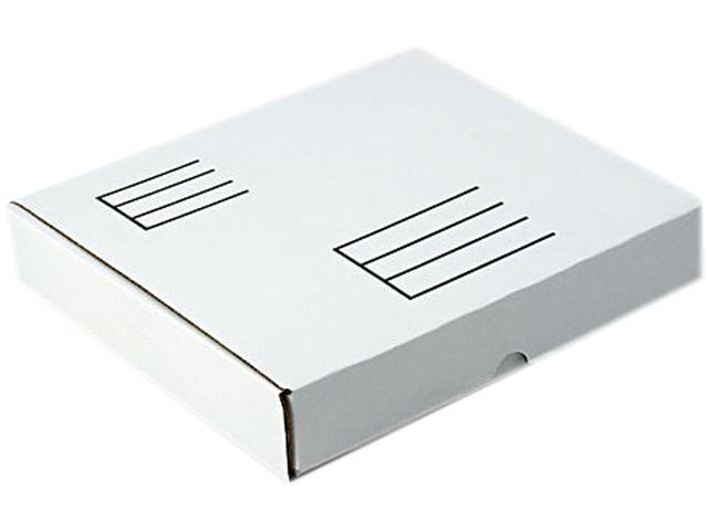 Quality Park 74105 Die-Cut Fiberboard Ring Binder Mailer w/1 Binder Cap, 10-1/2 x 12 x 2-1/8, White