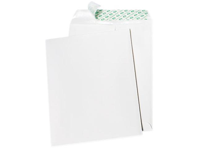 Quality Park 77390 Tech-No-Tear Catalog Envelope, Poly Lining, Side Seam, 9 x 12, White, 100/Box