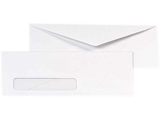 Quality Park 90120B Business Window Envelope, Contemporary, #10, White, 1000/Box