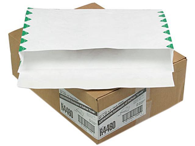 Quality Park R4460 Tyvek Booklet Expansion Mailer, 1st Class, 10 x 15 x 2, White, 18lb, 100/Carton