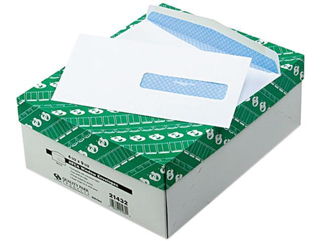 Health Form Gummed Security Envelope #10 White 500/Box