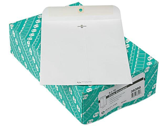 Quality Park 38390 Clasp Envelope, 9 x 12, 28lb, White, 100/Box