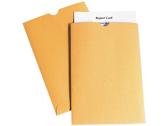 Quality Park 40762 Report Card Jacket, 28lb., Kraft, Thumb Cut, 100 per Box