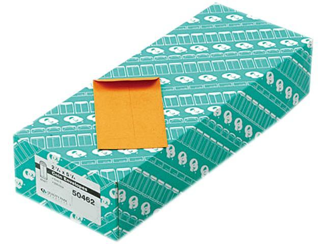 Quality Park 50462 Kraft Coin & Small Parts Envelope, Side Seam, #5, Light Brown, 500/Box