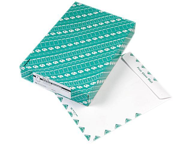 Quality Park 54395 Redi-Seal Catalog Envelope, Air Mail, Side Seam, 10 x 13, White, 100/Box