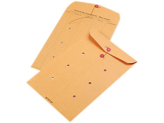 Quality Park 63564 Light Brown Kraft String & Button Interoffice Envelope, 10 x 15, 100/Carton