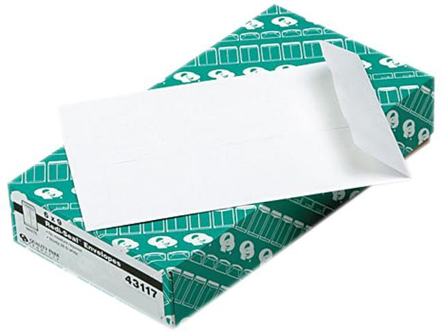 Quality Park 43117 Redi-Seal Catalog Envelope, 6 x 9, White, 100/Box