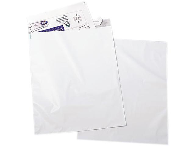 Quality Park 45235 Redi-Strip Recycled Poly Mailer, Side Seam, 14 x 19, White, 100/Pack